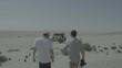 Photographe dans le désert