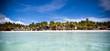 Beautiful amazing beach view from sea,