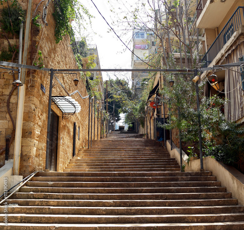 Photographie St Nicholas Stairs, Gemmayzeh - Beirut