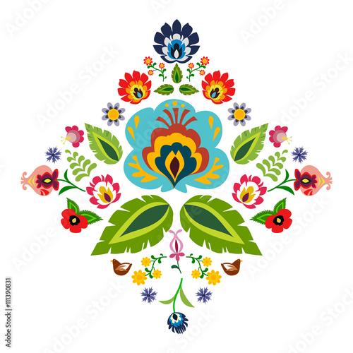 polski-ludowy-element-dekoracyjny-wektor
