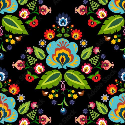 Fotografija  Traditional Polish folk floral pattern vector