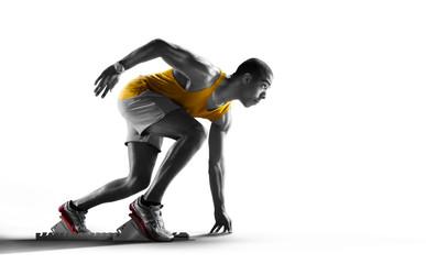 Sport. Isolated Athlete runner. Silhouette