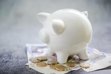 Savings Concept, British Pounds