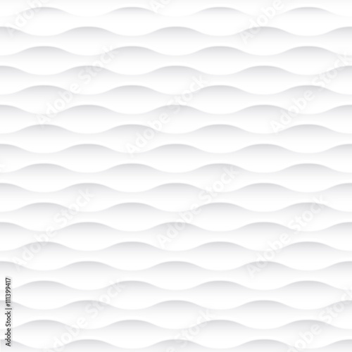 Abstract 3d white geometric background wallpaper Canvas Print