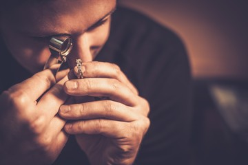 Portrait of a jeweler durin...