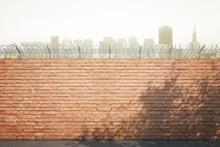 Red Brick Prison Wall