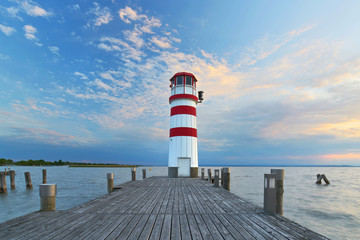 Fototapeta Latarnie Steg am See, Leuchtturm