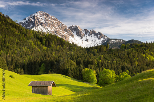 Deurstickers Alpen Alps (Tauernspitz, Reutte, Tyrol, Austria)