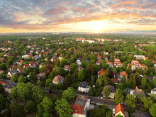 Aerial View Of Suburben Houses...