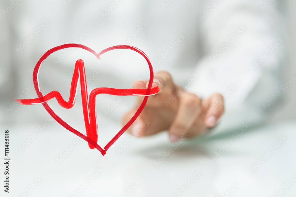 Fototapeta heart fitness