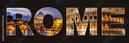 Collage with theme of Italy Canvas Print