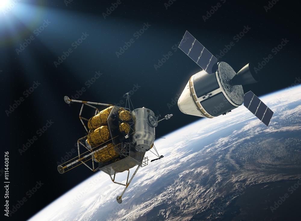 Fototapety, obrazy: Crew Exploration Vehicle Docking