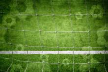 Football Goal Net Closeup With...