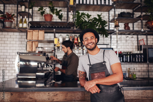 Recess Fitting Restaurant Coffee shop worker smiling to camera
