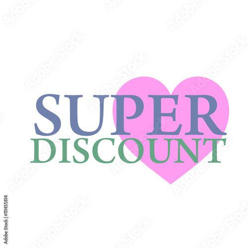 super discount sale banner vector isolated sale tag special offer