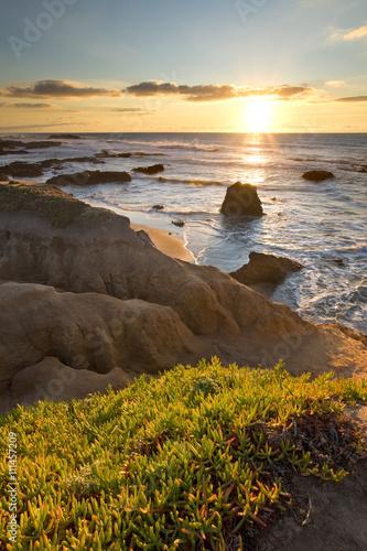 Foto op Aluminium Strand Pescadero Beach California at Sunset