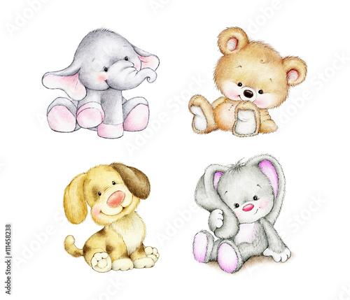zestaw-zwierzat-slon-krolik-niedzwiedz-pies