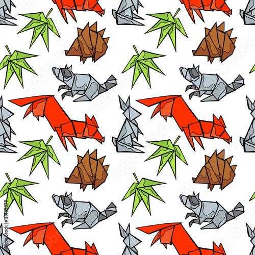 Rabbit Origami Logo Flat Design Stock Illustration - Download ... | 500x500