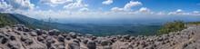 Panorama View Of Lan Hin Pum Viewpoint In Phu Hin Rong Kla National Park, Phitsanulok, Thailand