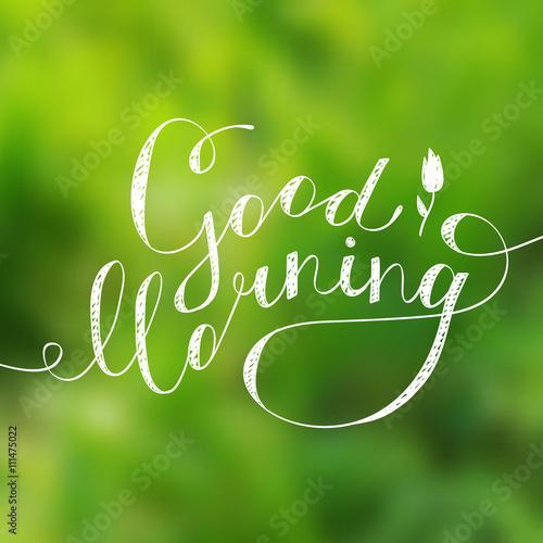 Fotografia good morning text