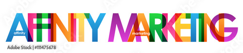 AFFINITY MARKETING Colourful Vector Letters Icon Wallpaper Mural