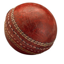Old Worn Cricket Ball Isolated...