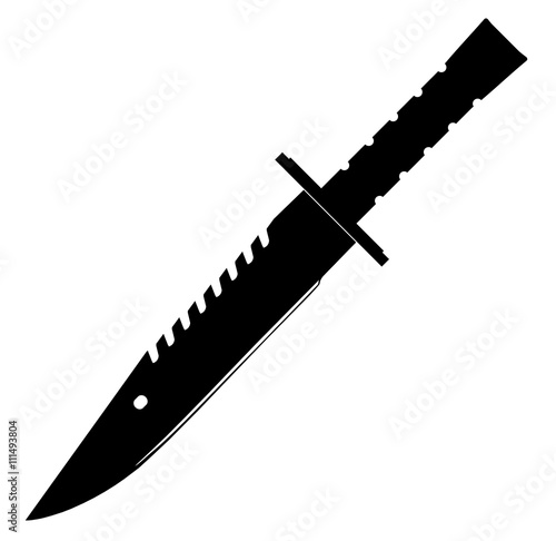 Photo M9 Bajonett Messer Schwarz - M9 Bayonet Knife Black