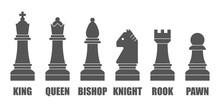 Chess Pieces. Vector Chessmen ...
