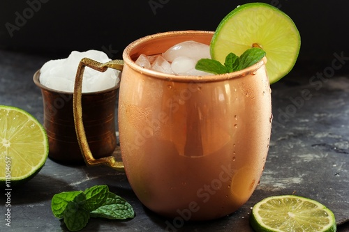 Photo  Moscow Mule in a Copper Mug