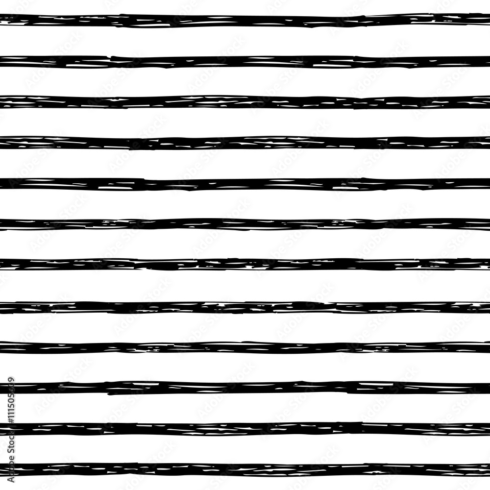 Fototapeta Seamless pattern with hand drawn stripes