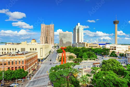 Aluminium Prints Texas San Antonio Skyline
