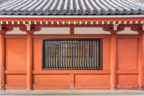 Ancient Building Of Hall In Buddhist Temple The Roof Wall And Window Are Vintage Japanese Design Buy This Stock Photo And Explore Similar Images At Adobe Stock Adobe Stock