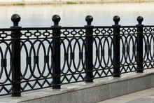 Iron Fence On The Waterfront