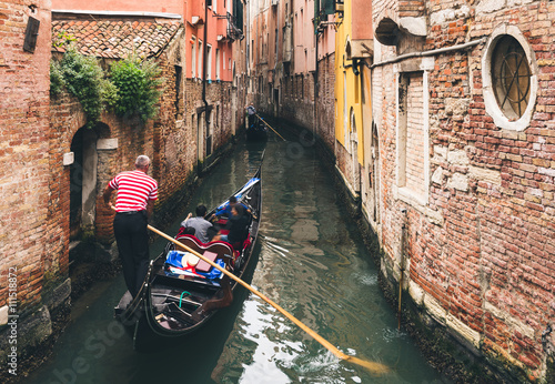Canvas Prints Venice Canal with gondola in Venice, Italy