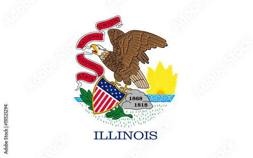 Obraz na płótnie Flag of Illinois, USA