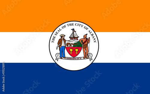Fotografia, Obraz  Flag of Albany in New York, USA