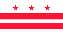 Flag Of Washington, D.C., USA