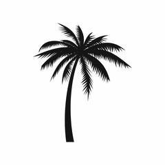 Ikona kokosove palme, jednostavan stil