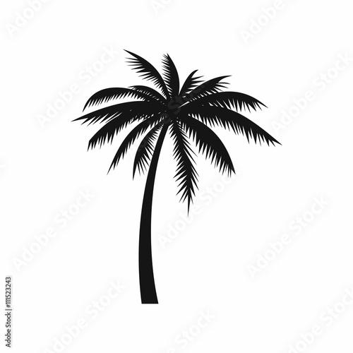 Fotografija Coconut palm tree icon, simple style