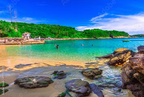 Poster Brésil Azeda Beach in Buzios, Rio de Janeiro. Brazil