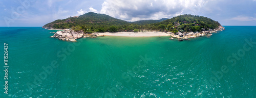 Garden Poster Cathedral Cove Aerial panoramic view of Koh Phangan Thailand