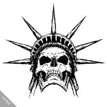 Black And White Engrave Evil V...