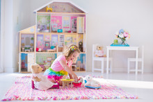 Kids Playing With Stuffed Anim...