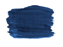 A Fragment Of The Indigo Background Painted With Gouache