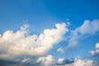 Image of cloudy and blue sky background.