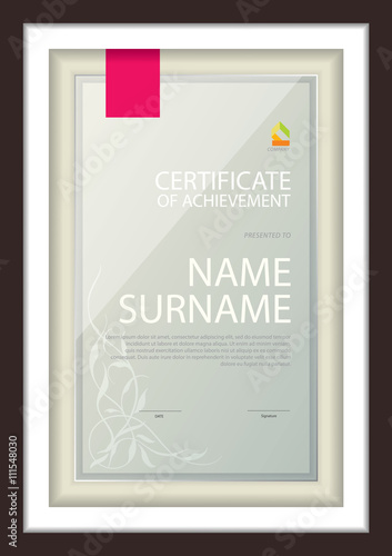 Certificate Template Diploma Layout A4 Size Vector Buy This Stock