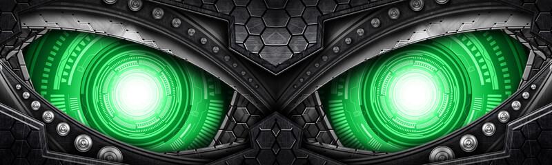 Fototapetaabstract robot eye background