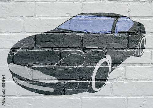 Photo  Art urbain , voiture de sport