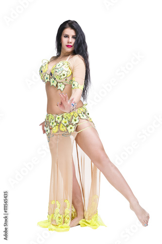 f8ed7e919efd Young beautiful exotic eastern women performs belly dance in ethnic ...