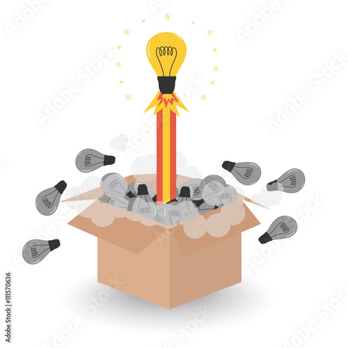 bulb idea rocket blast off concept of think outside the box revisit old ideas buy this stock vector and explore similar vectors at adobe stock adobe stock adobe stock